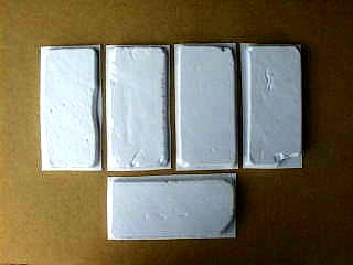 Set of five 4x8.5 Antique Used Brick Veneer Molds ()
