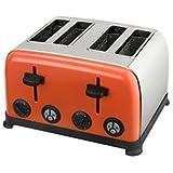 Kalorik TO43472 Kitchen Originals Crush 4 Slice Stainless Steel Toaster, Coral