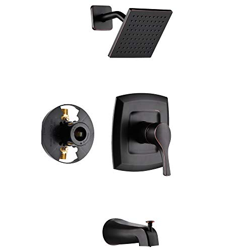 Gabrylly Shower Faucet, Single-Function Tub and Shower Trim Kit with 6