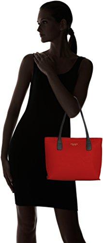 Piquadro Shopping Bag Collezione Antilias Borsa a spalla, Pelle, Rosso, 30 cm