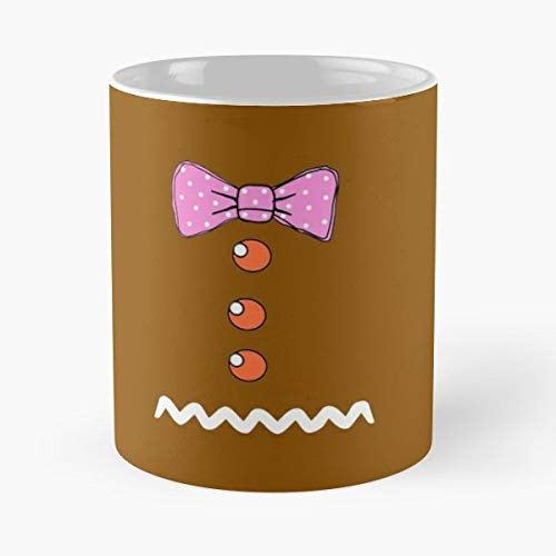 (Funny Gingerbread Girl Costume - 11 Oz Coffee Mugs Unique Ceramic Novelty Cup, The Best Gift For)