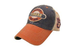 Auburn Tigers Hat Adjustable Trucker Style with A Logo on (War Trucker Hat)
