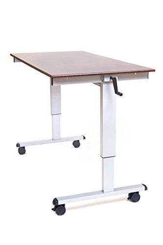 (LUXOR Standup-CF60-DW Stand Up Desk, Crank Adjustable, 60
