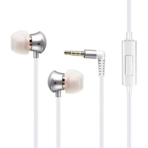 Girl Headphones Earbuds Headphones with Mic/Controller for iPhone iPad iPod iOS Samsung Galaxy and More Android Smartphones Compatible with 3.5 mm