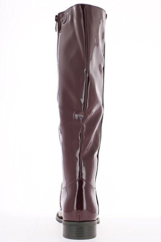 Bottes de pluie femme bordeaux à talon de 3cm