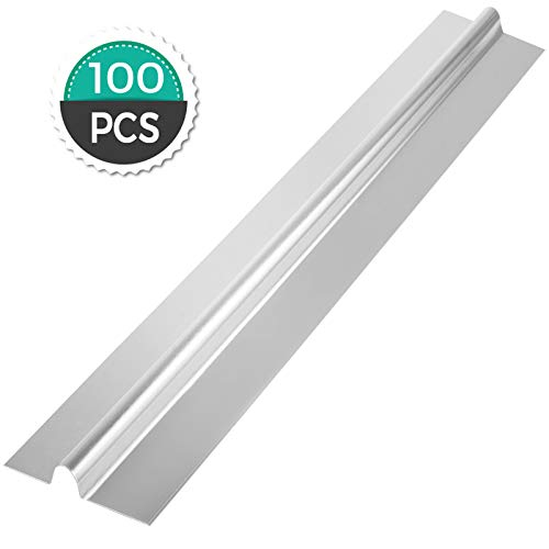 "Happybuy 4Ft 1/2"" PEX Heat Transfer Plates 100/Box Aluminum Heat Transfer Plates for Radiant Heating"