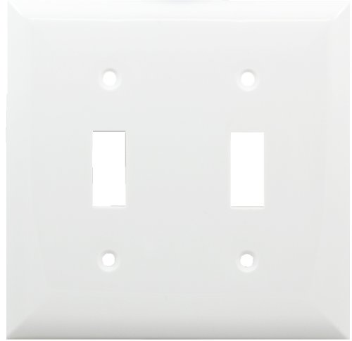 Jasco Wall Plate (GE Unbreakable Nylon Double Switch Wall Plate, White 58876)