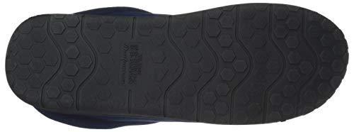 Dearfoams Men's Perforated Microsuede Clog Slipper, Navy Blazer, XL Regular US by Dearfoams (Image #3)