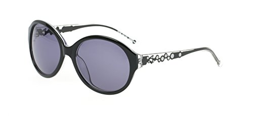 Women's Fashion Sunglasses By London Blu Black Frame w/ Crystals Oversized 5.8 - London Designer Sunglasses