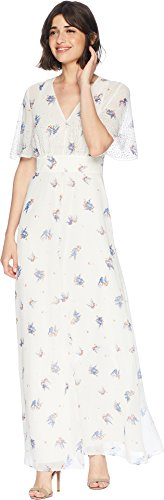 Juicy Couture Women's Drifting Wildflowers Maxi Dress w/Embroidery Angel Drifting Wildflowers 0