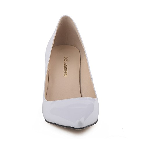 Dress On White Renly Womens Slip Color Leather Made Pumps Candy Bridesmaid Custom PU wv768xUq