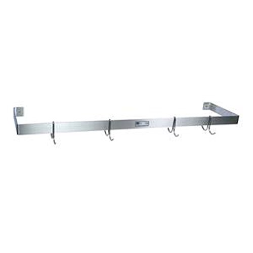 Stainless John Steel Boos Pot Rack (John Boos PRW11 Single Bar 48