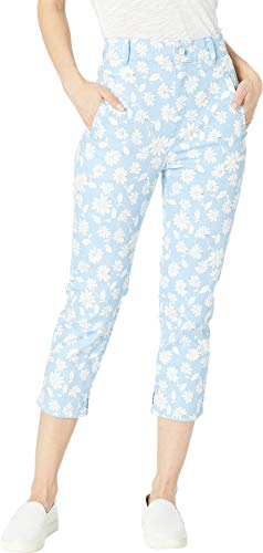 (Juicy Couture Women's Denim Pearl Embellished Capri Jeans Blue Chill Sketched 27)