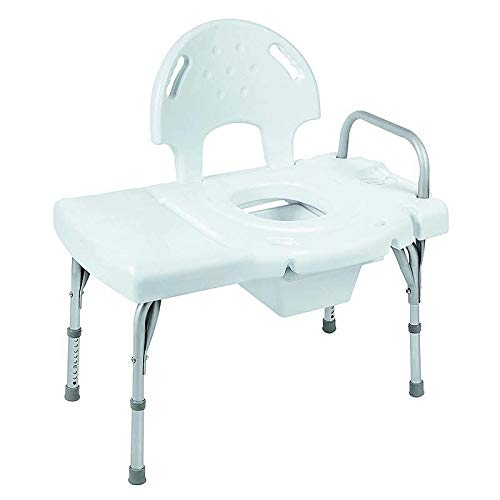 (I-Class Heavy-Duty Transfer Bench with Rail, Commode Opening and Pail (Each of 2))