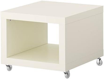 Ikea Lack Table D Appoint Avec Roues En Caoutchouc Transparent Blanc 55 X 55 X 45 Cm Amazon Fr Cuisine Maison