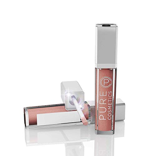 Pure Cosmetics Pure Illumination Natural Hydrating Lip Gloss Push Button Light Up with Mirror - Caribbean Coral, 0.30 fl. oz.