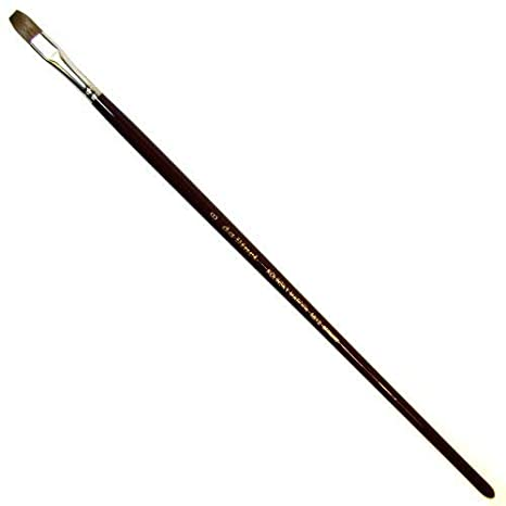 da Vinci Oil /& Acrylic Series 1824 Oil Paint Brush 1824-12 Size 12 Filbert Russian Red Sable with Long Grey Handle