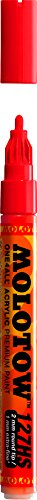 - Molotow ONE4ALL Acrylic Paint Marker, 2mm, Traffic Red, 1 Each (127.202)