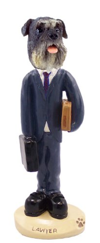 - Schnauzer Gray w/Uncropped Ears Lawyer Doogie Collectable Figurine
