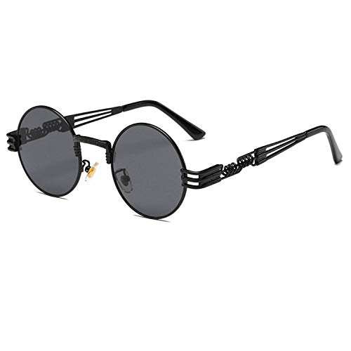 Steampunk Sunglasses Luxury Men Round Sun glass Coating Glasses Metal Vintage Retro Lentes of Male 16 ()