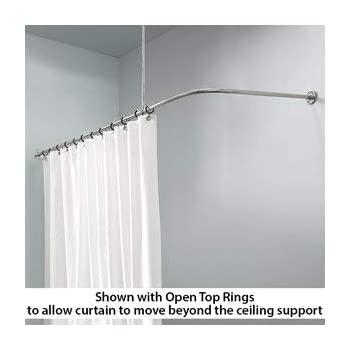 Heavy Duty Corner Shower Curtain Rod Flat Black 36x