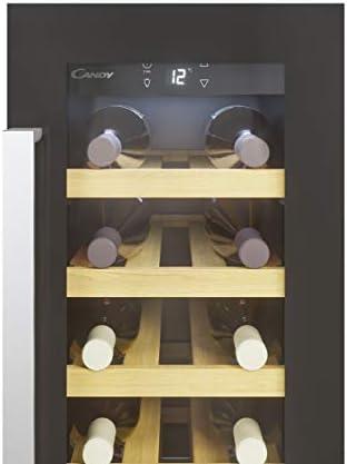 Candy CCVB 30/1 Vinoteca integrable, 20 botellas, Anti-UV, Compresor antivibraciones, Luz led interior, 39 dBA, Negro[Clase de eficiencia energética F]