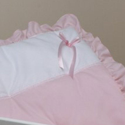 Pretty Pique Cradle Bedding - Pink - Size 15x33