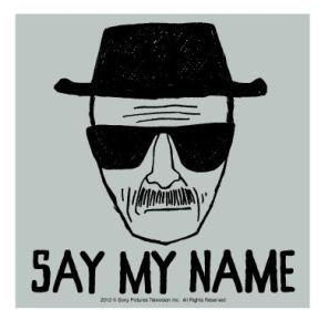 breaking bad say my name sticker buy online in uae. Black Bedroom Furniture Sets. Home Design Ideas