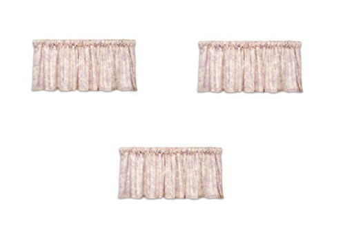 Glenna Jean Cottage Collection Sweet Pea Window Valance, Toile, 70x18 (3 Pack) by Glenna Jean