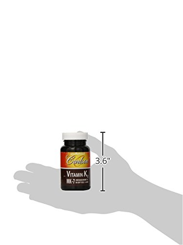 Carlson Labs Vitamin K2 7 45 MCG Mineral Supplement Softgels, 90 Count