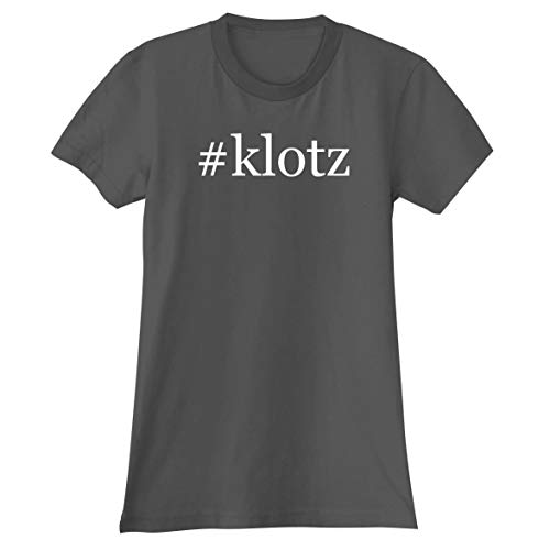 The Town Butler #Klotz - A Soft & Comfortable Hashtag Women's Junior Cut T-Shirt, Grey, Small