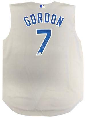differently 1d8a5 a19fe Signed Alex Gordon Jersey - Grey Sleeveless - Autographed ...