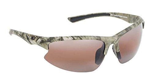 Strike King S11 Optics Mossy Oak Camo Semi Rimless Frame Sunglasses with Polarized Dark Amber Brown - Willy Sunglasses