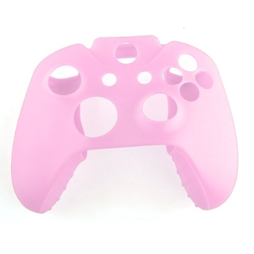 TOOGOO(R) Soft Silicone Gel Protective Skin Cover Case for XBOX ONE Controller Pink