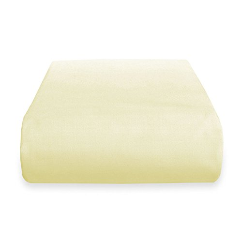 Prime Deep Pocket Fitted Sheet - Brushed Velvety Microfiber - Breathable, Extra Soft and Comfortable - Winkle, Fade, Stain Resistant (Vanilla, Queen)