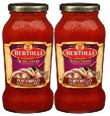 Bertolli Vineyard Portobello Mushroom with Merlot Pasta Sauce 24 oz. (2 count) (Pack of 1)