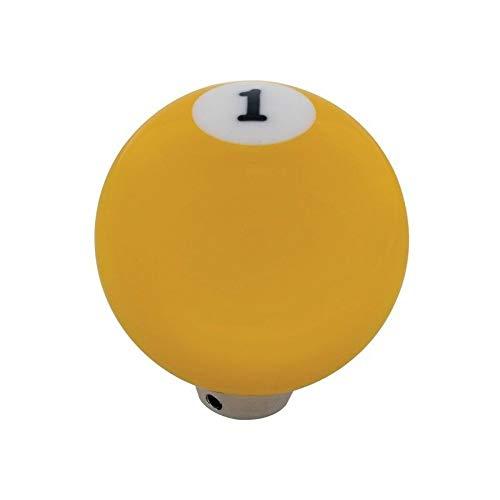 United Pacific Yellow 1 Ball Gearshift Knob