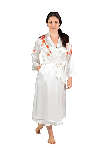 TexereSilk Women's Silk Nightgown Robe Set (Natural White, X-Small) Popular Gifts for Women WS0601-NWH-XS by TexereSilk (Image #1)