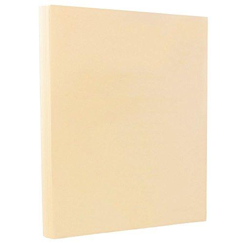 Beige Stock - JAM PAPER Vellum Bristol 67lb Cardstock - 8.5 x 11 Coverstock - Cream - 50 Sheets/Pack