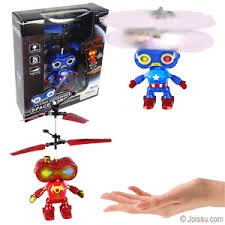 Marvel RC Toy, RC Flying Hovering space Robot, RC infrared Induction Helicopter Robot for Kids, Teenagers Colorful Flyings for Kid's Toy (Captain America)