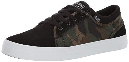 DVS Men's Aversa+ Skate Shoe camo Black Suede 11 Medium - Black Suede Camo