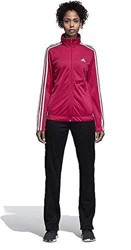 adidas Women Track Suit Back to Basics Training 3-Stripes (Medium, Real Magenta/White)