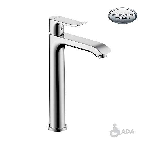 hansgrohe Metris  Modern 1-Handle  10-inch Tall Bathroom Sink Faucet in Chrome, 31183001