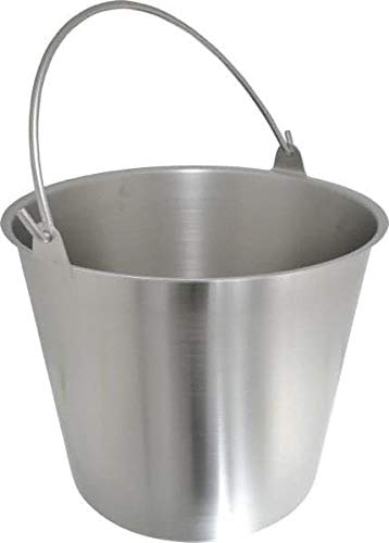 VOLLRATH - 3-1/4 Gallon Tapered Cylinder Stainless Steel Pail 9-1/4'' High x 30-1/2'' Diam