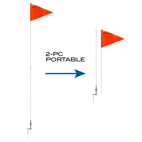 AGORA Hardground Portable Fiberglass Soccer Corner Flags - Set of 4