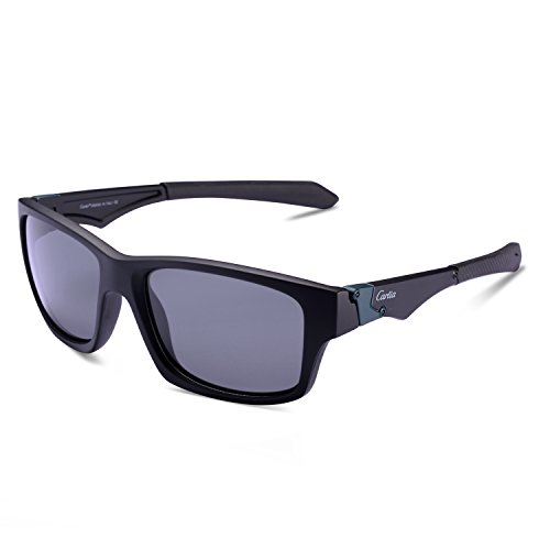 Carfia Sports Sunglasses UV400 Polarized Sunglasses for Mens Womens Driving Running Fishing Golf, TR90 Unbreakable - Are Lenses Much How Polarized