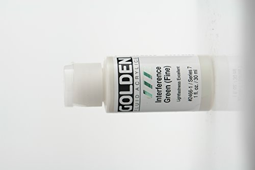 Golden Fluid Acrylic Paint 1 Ounce-Interference Green Fine