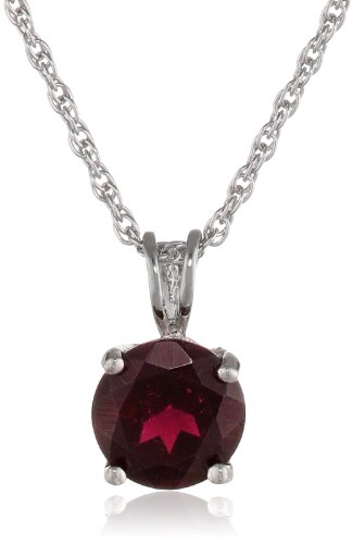 sterling-silver-round-garnet-pendant-necklace
