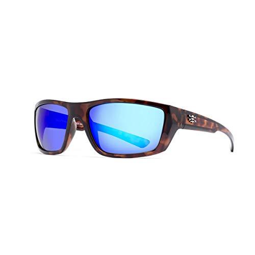 Calcutta SW1BMTORT Shock Wave Sunglasses, Tortoise Frame/Blue Mirror ()