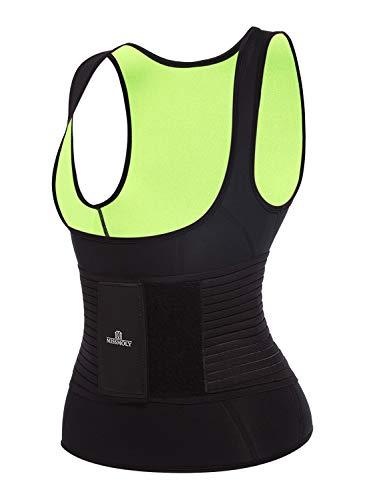 Women's Hot Sweat Sauna Neoprene Tank Top Waist Trainer Body Shaper Vest Compression Slimming Trimmer Belt